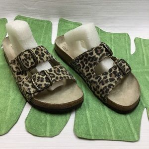 Animal Print Slide-On Sandals by White Mountain